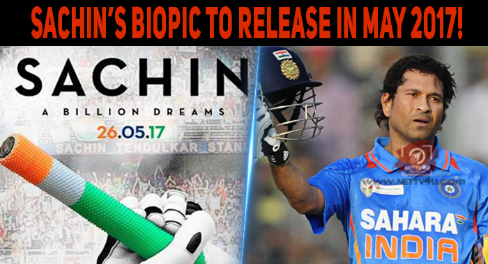 Sachin's Biopic To Release In May 2017!