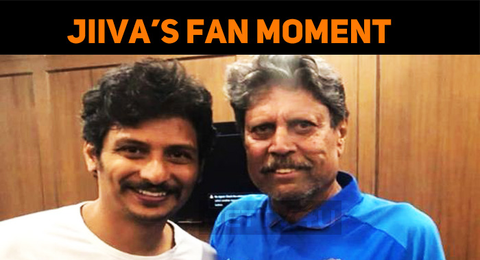 Jiiva Clicks A Photo With Kapil!