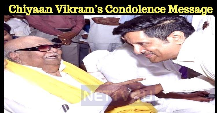 Chiyaan Vikram's Condolence Message!