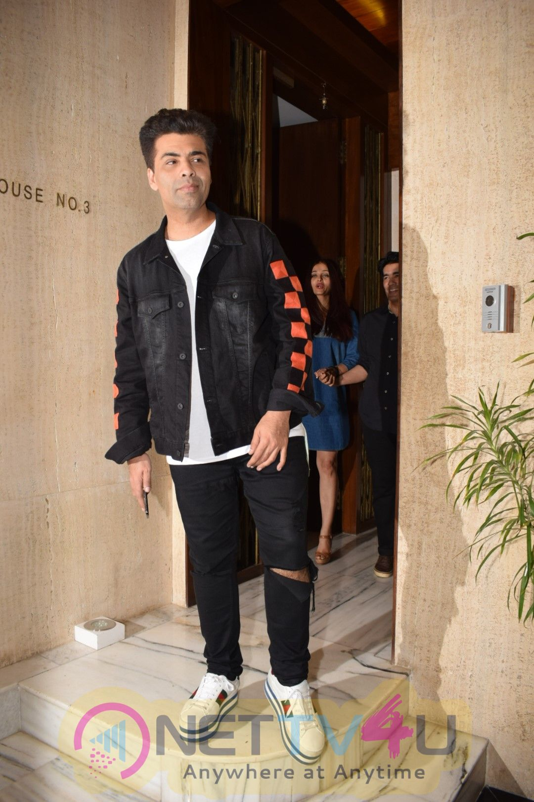 Abhishek Bachchan, Aishwarya Rai & Karan Johar Spotted At Manish Malhotra House Pics Hindi Gallery
