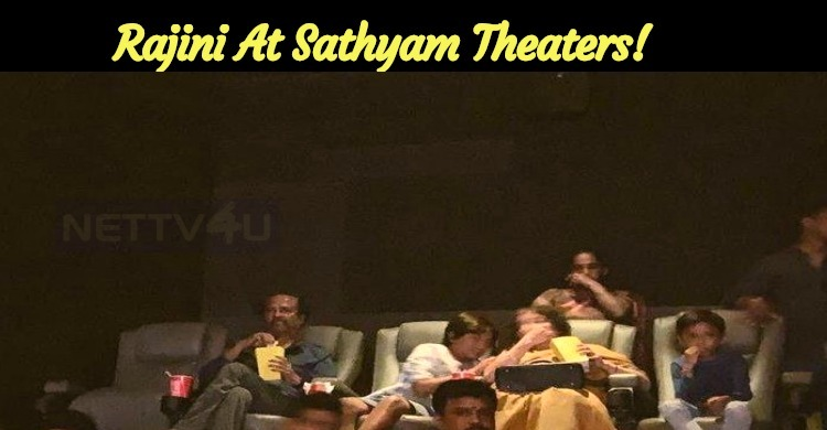 Rajini At Sathyam Theaters!
