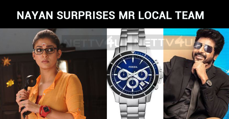 Nayan Wraps Up Her Part In Mr Local! Surprises The Team With Gifts!