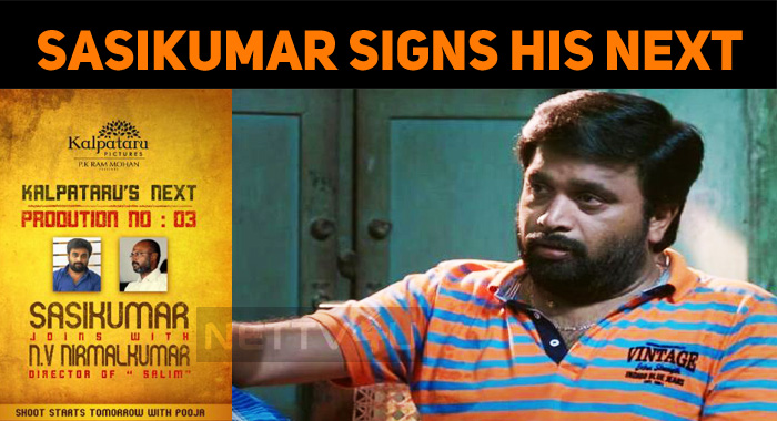 Sasikumar Joins Vijay Antony Director!