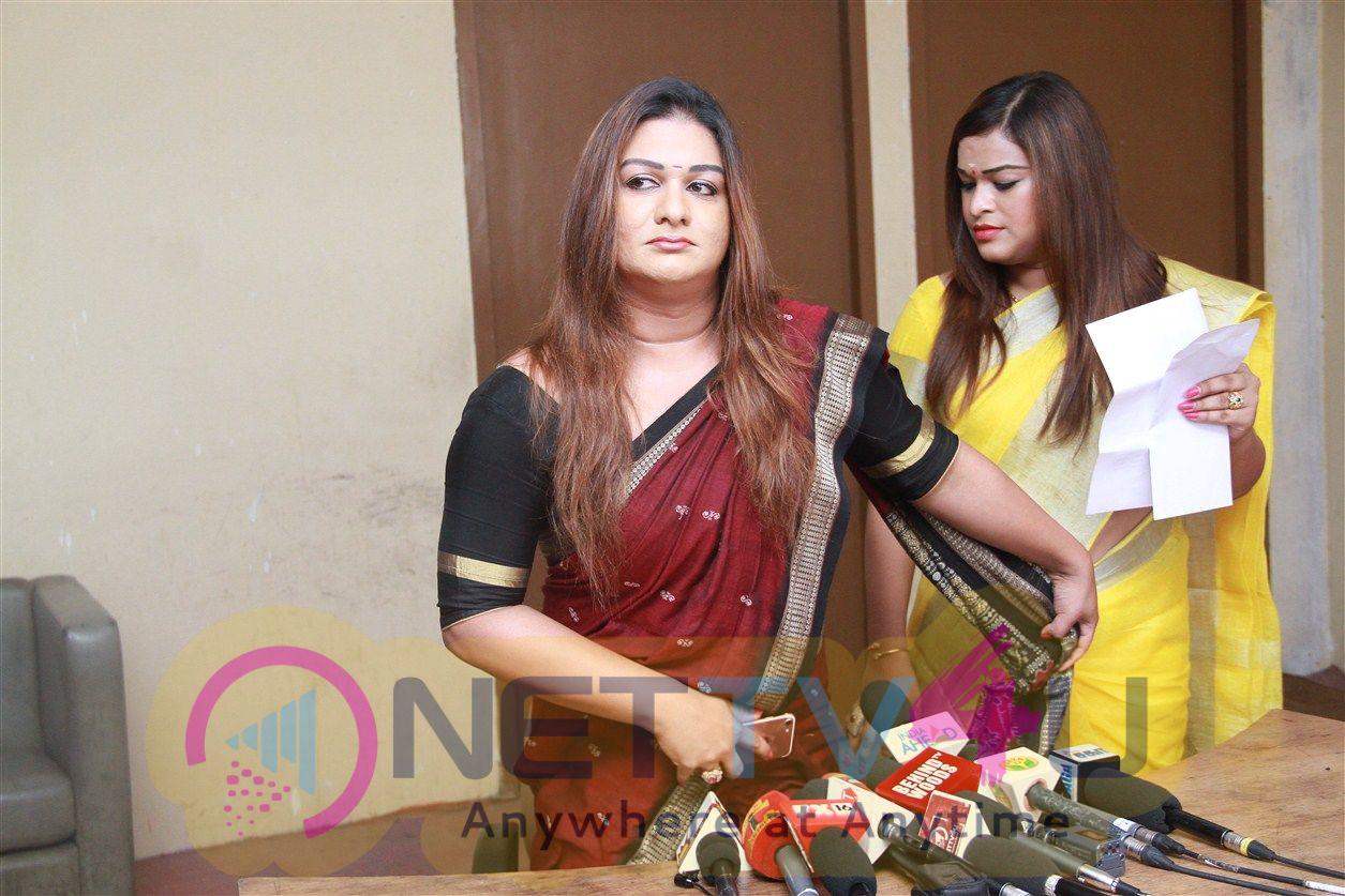 Transgender Activist Apsara Reddy Protests Against Tamil Film Irrutu Araiyil Murattu Kuthu Pics