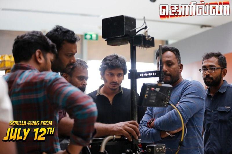 Gorilla Movie Working Stills Tamil Gallery