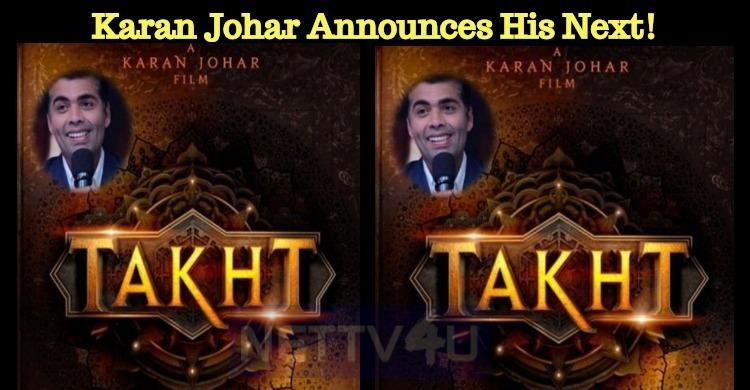 Karan Johar Announces His Next!