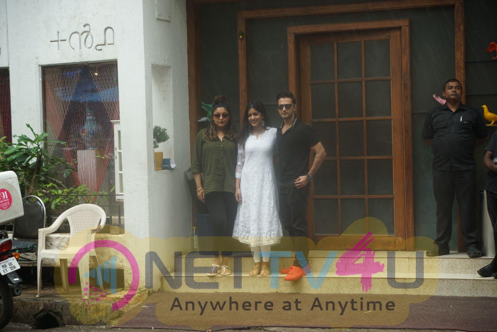 Vatsal Sheth,Ishita Dutta, Tanushree Dutta Spotted Outside +91 At Juhu Stills