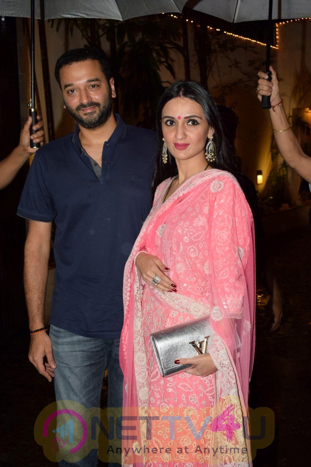 Stills Of Shilpa Shetty, Raveena Tandon Together At Anil Kapoor's House Celebrating Karwa Chauth