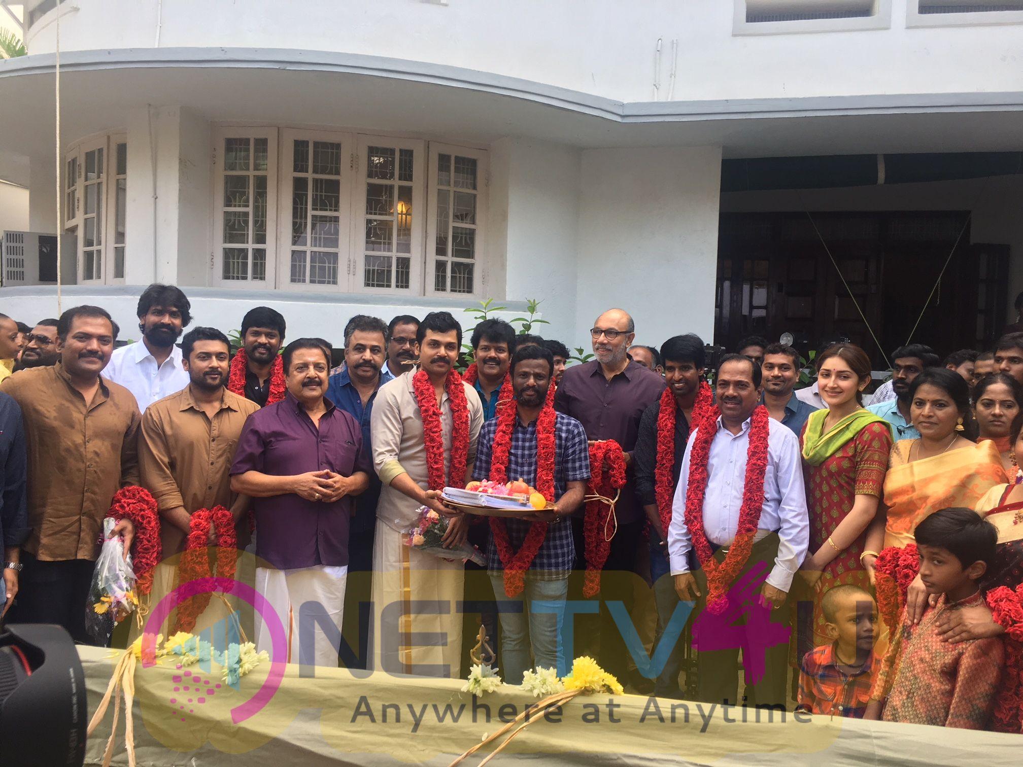 Actor Karthi New Movie Pooja Stills