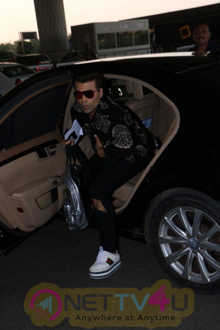 Karan Johar Spotted At Airport Photos