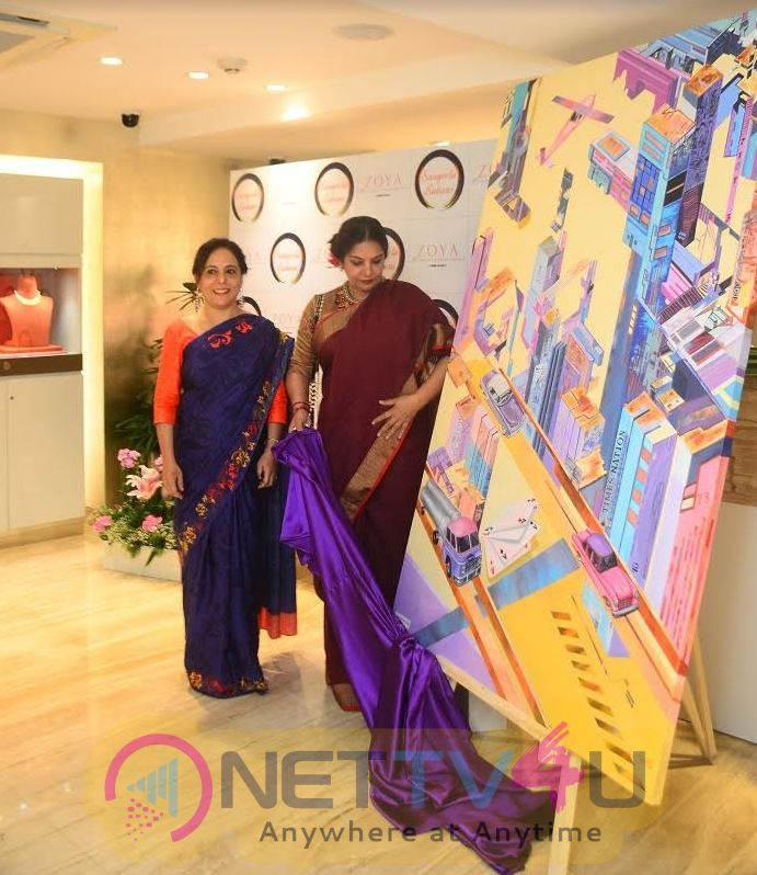 Shabana Azmi Unveiled Paintings Stories Unlimited By Artist Sangeeta Babani In Association With ZOYA Hindi Gallery