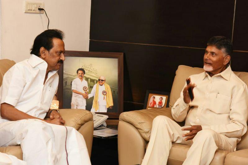 Stalin Meets Chandrababu Naidu!