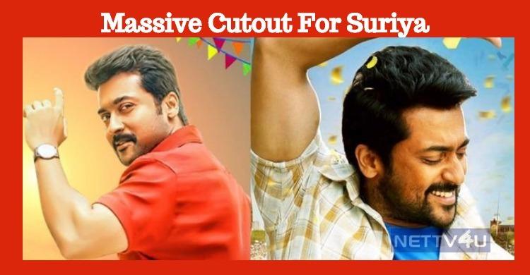 Massive Cutout For Suriya In Nellai!