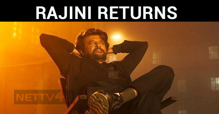Super Star Rajini Will Be Back Tonight To Celeb..