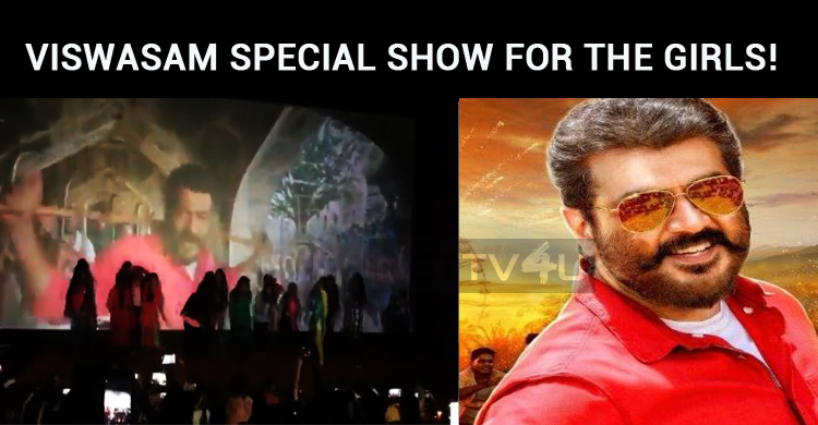 Whistles Blow At Viswasam Special Show For The Girls!