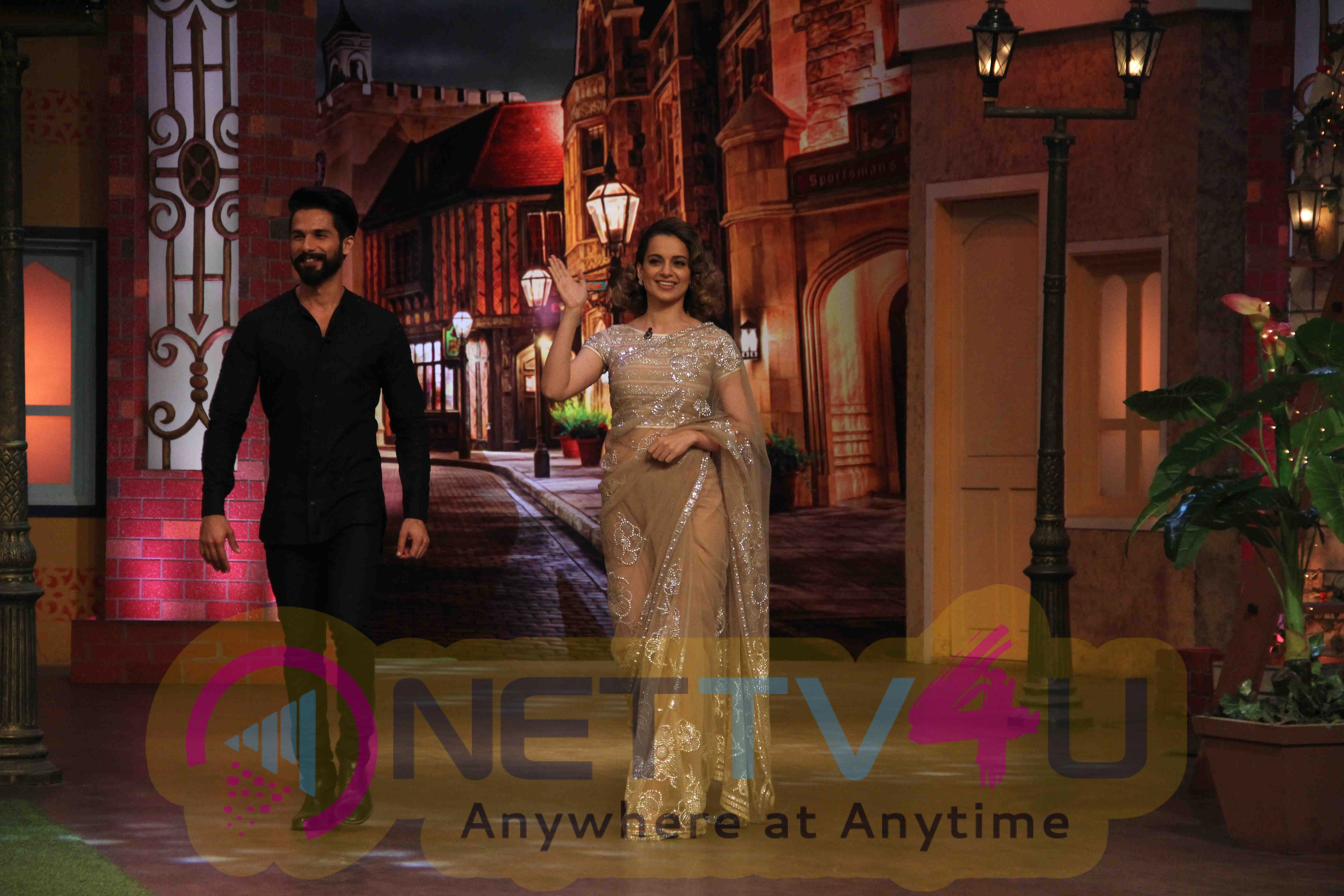 Shahid Kapoor And Kangna Ranaut At Rangoon Promotions On The Kapil Sharma Show Recent Stills