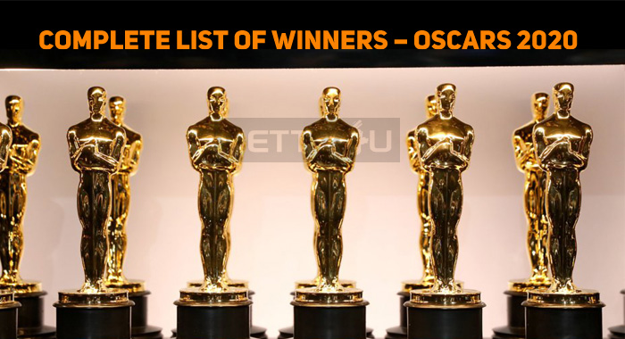Here Is The Complete List Of Winners – Oscars 2..
