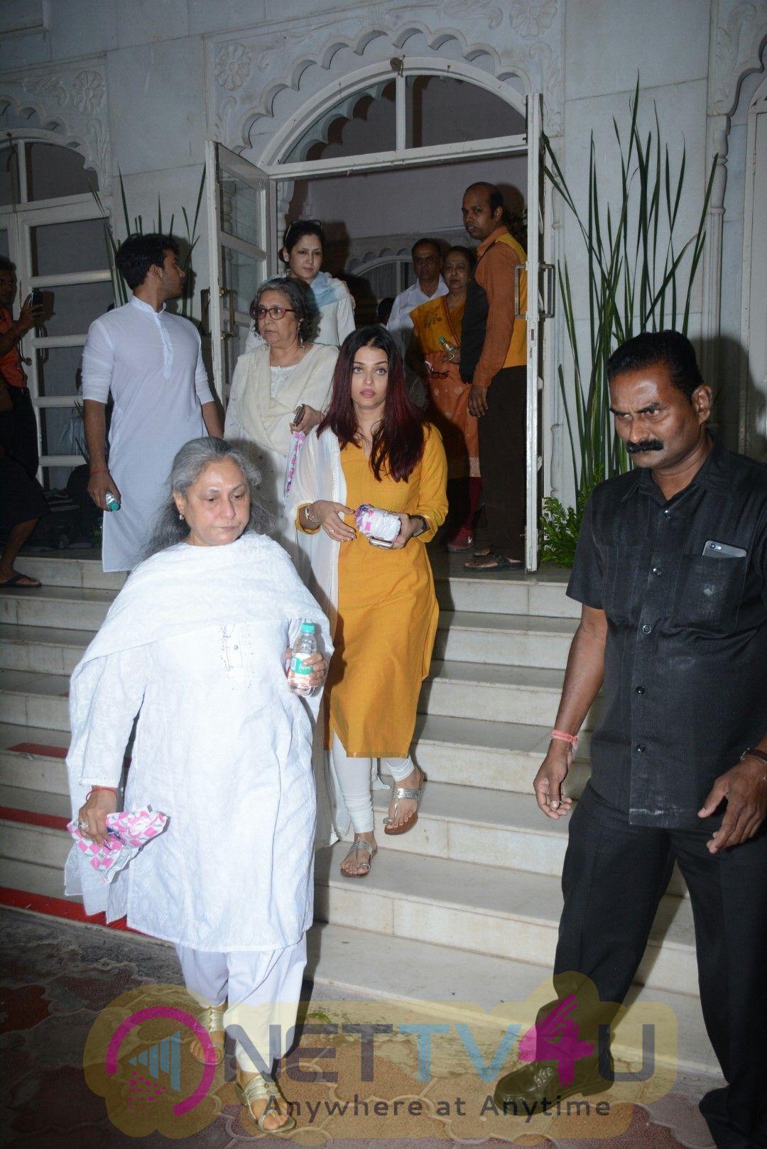Aishwarya Rai Bachchan At Shammi Aunty's Prayer Meet Images Hindi Gallery