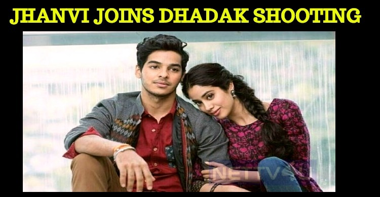 Jhanvi Joined The Sets Of Dhadak!