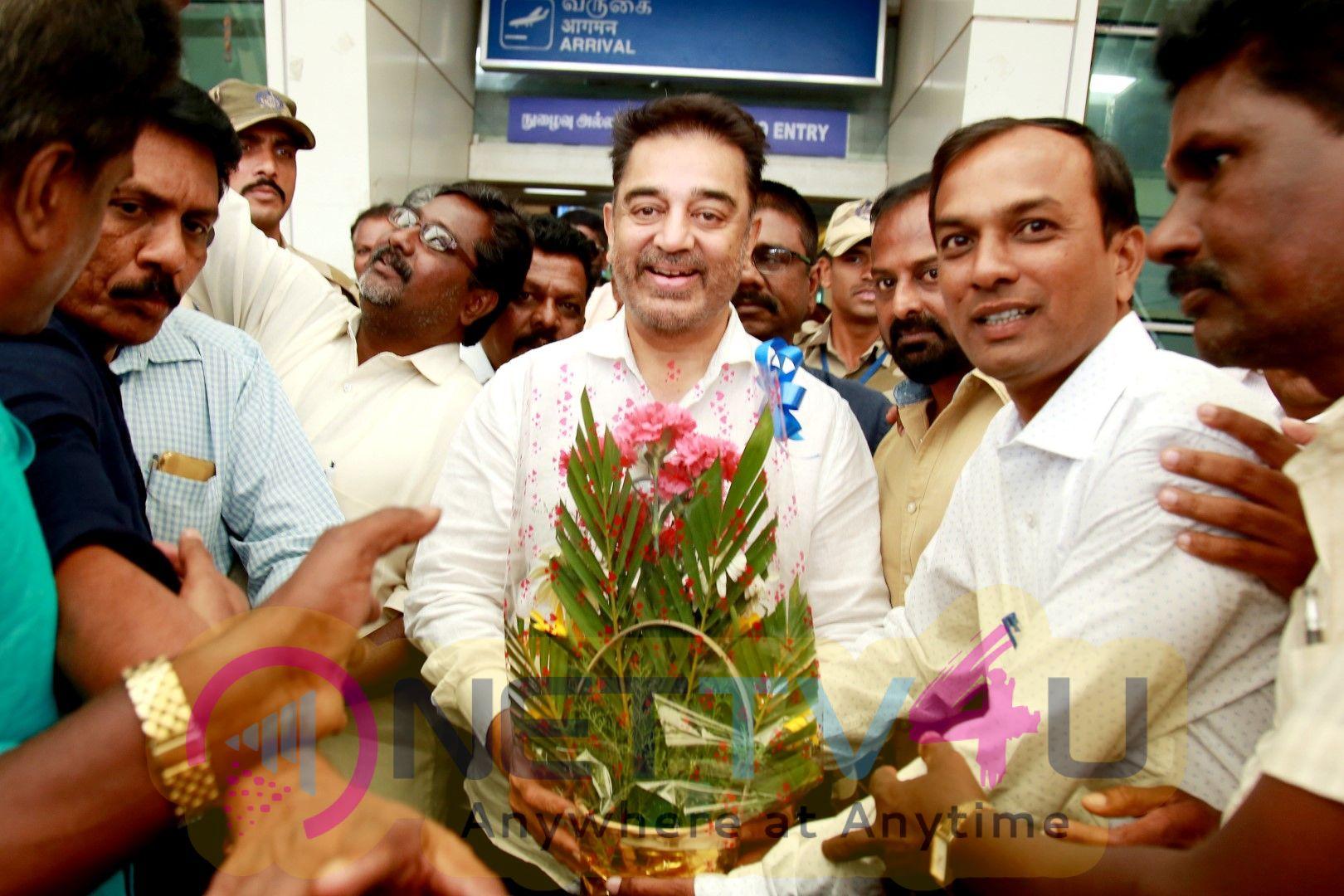 Kamal Haasan At Coimbatore Airport Images Tamil Gallery