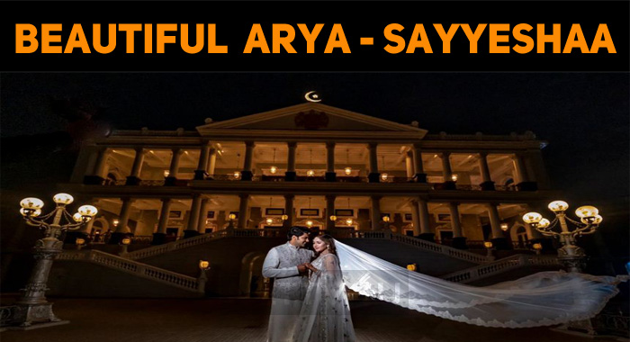 Perfect Shot! Happy Married Life – Arya And Sayyeshaa