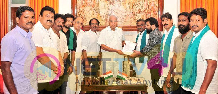 Cauvery Rights Rescue Action Coordination Committee Meet Governor Panwarilal Purohit