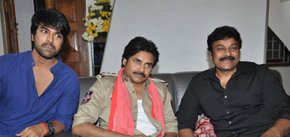 Chiranjeevi With Pawan And Charan Share The Happiness