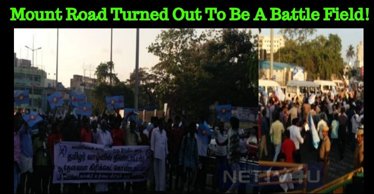 Mount Road Turned Out To Be A Battle Field! Rajini Makkal Mandram Protest! Vetrimaaran Injured!