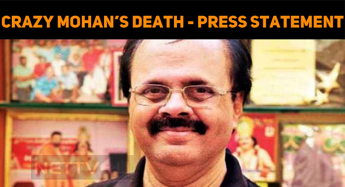 Crazy Mohan Death: Kauvery Hospital Issued A Pr..