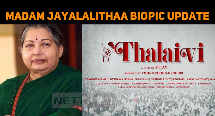 Madam Jayalalithaa Biopic Will Start Rolling In October!