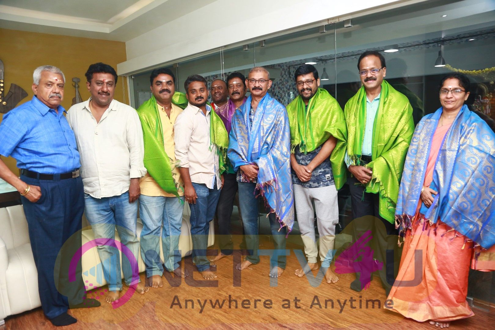 Kaatrin Mozhi Movie Dubbing Started With A Pooja At Knack Studios Stills