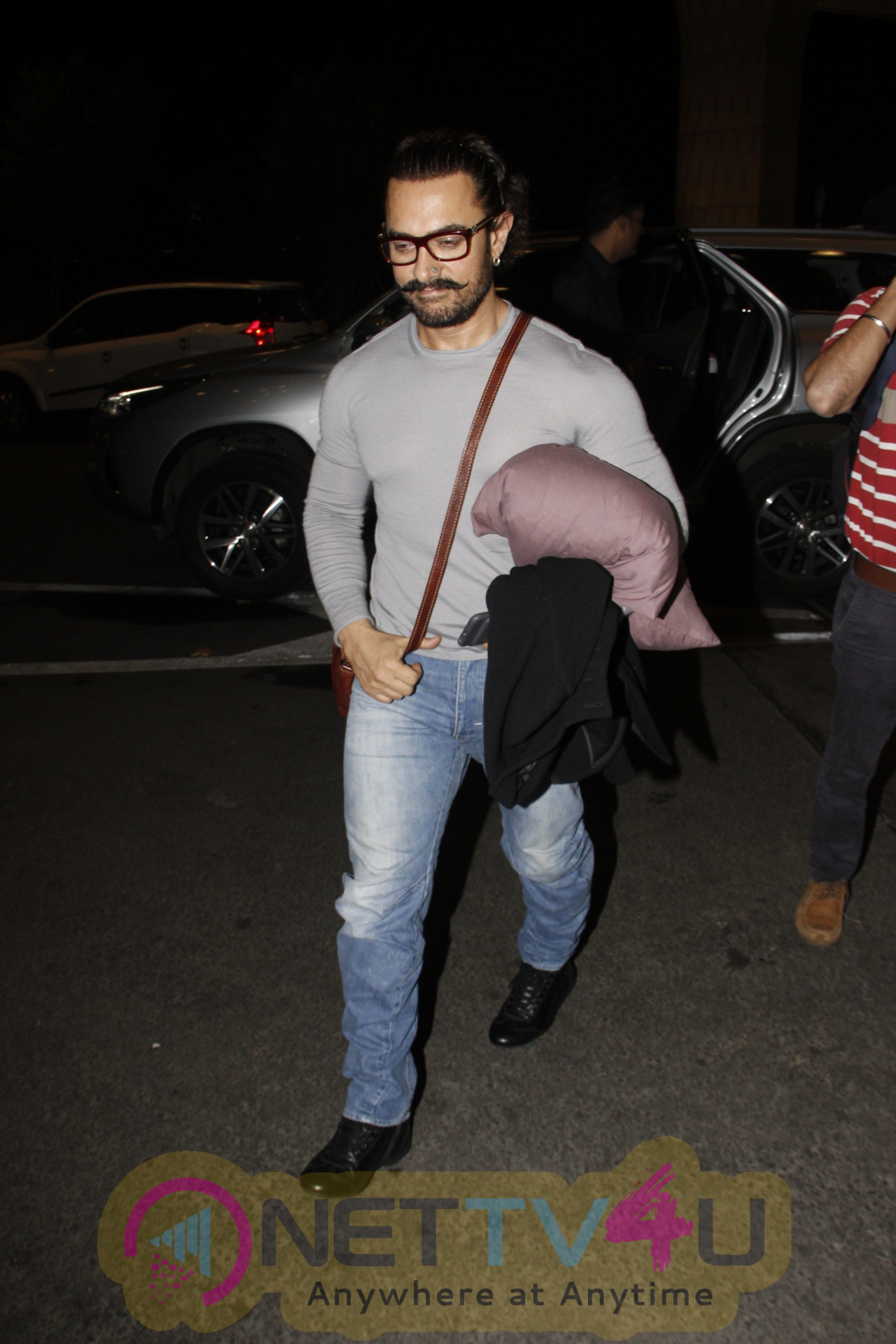 Actor Aamir Khan Spotted At Airport Stills