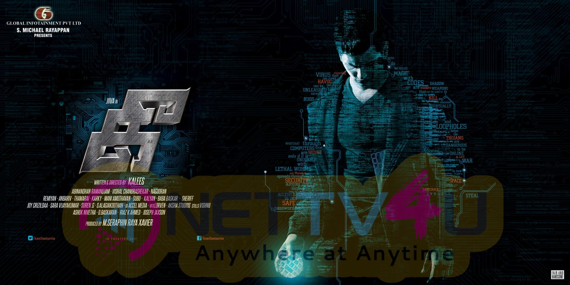 Actor Jiiva's Kee Movie Final Look Poster Tamil Gallery
