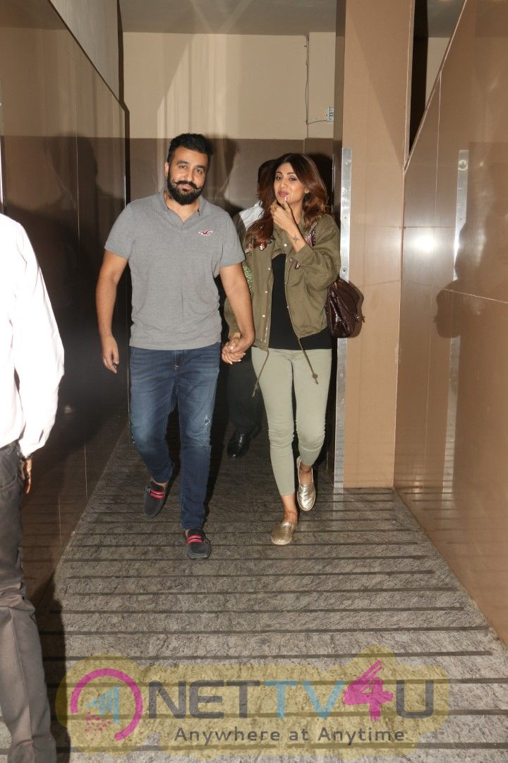Actress Shilpa Shetty And Her Husband Raj Kundra Spotted At Juhu PVR Photos