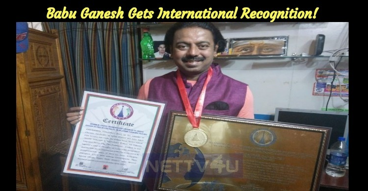 Babu Ganesh Gets International Recognition!