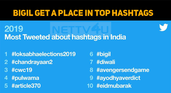 Bigil Gets A Place In Most Tweeted Hashtag In I..