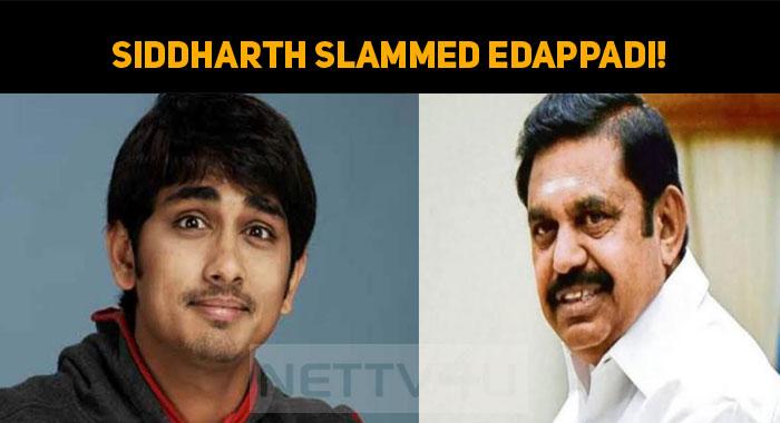Siddharth Slammed Edappadi!