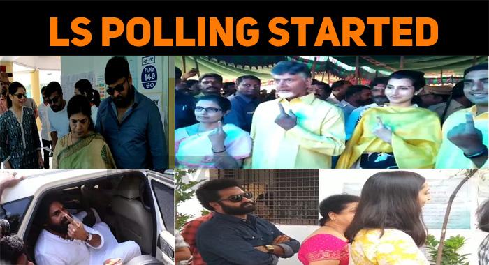 Lok Sabha Polling First Phase Started! Telugu Biggies Cast Their Vote!