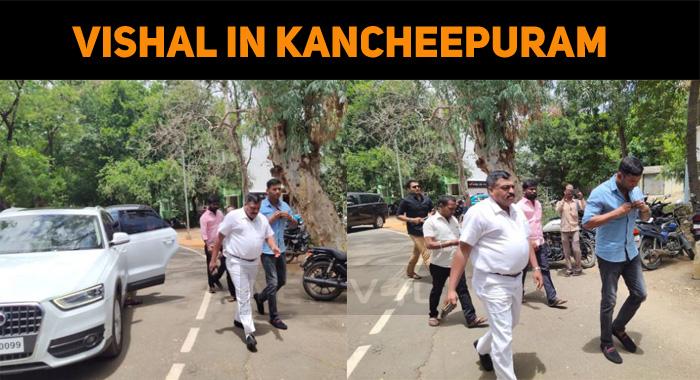 Vishal In Kancheepuram SP Office!