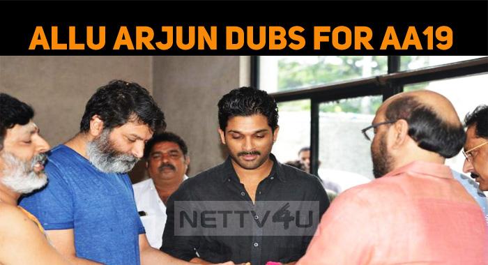 Allu Arjun Starts His Dubbing For AA19!