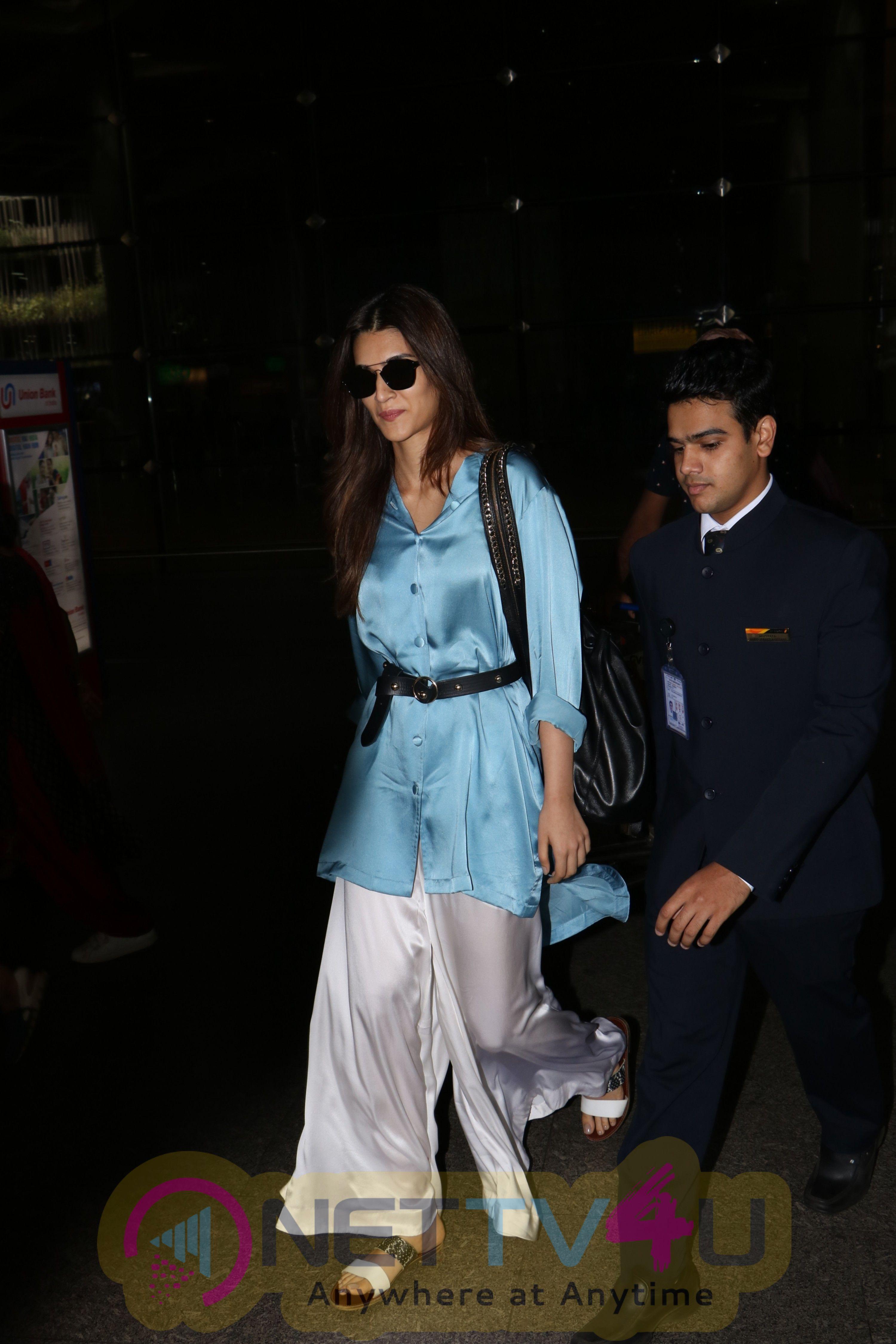 Actress Kriti Sanon Spotted At International Airport Stills