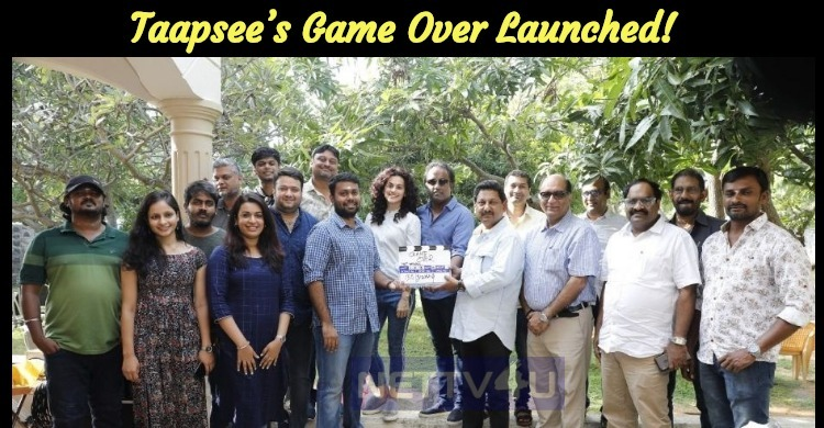 Taapsee's Game Over Launched! Tamil News