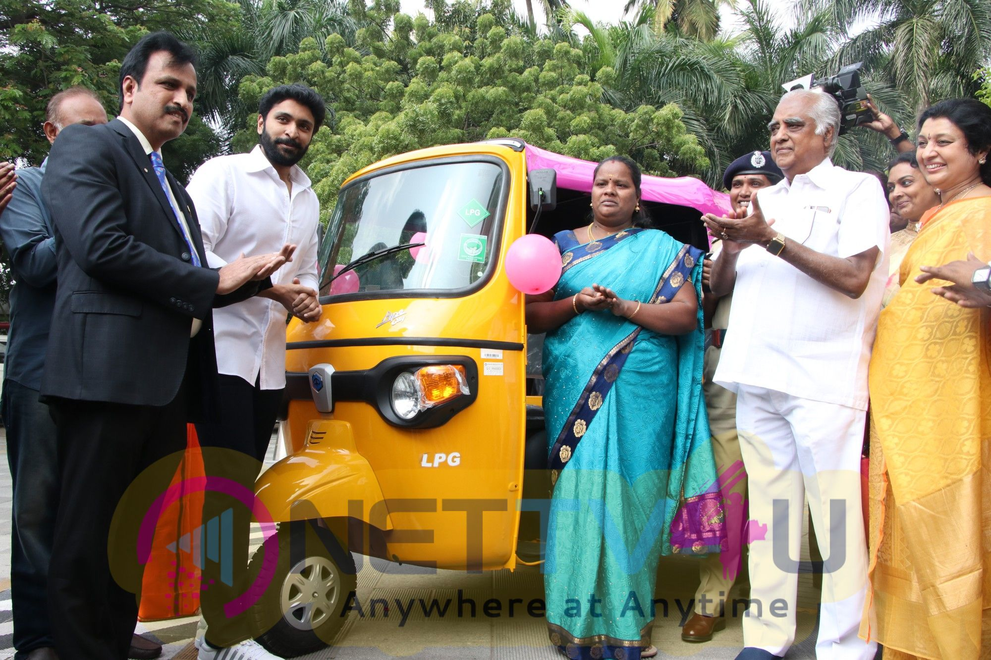 Pink Autos Are Introduced By The Rotary Club International For The Women Stills
