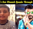 Darshan's Cute Son Vineesh Speaks Through A Video!