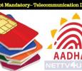 Aadhaar Not Mandatory To Buy SIM Cards – Central Telecommunication Department Tamil News