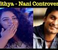 Nithya Menen's Flying Kiss To Nani Creates Controversy? Tamil News