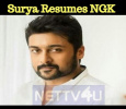 Suriya Resumed NGK! Tamil News