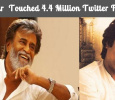 Superstar Rajinikanth Touched 4.4 Million Followers On Twitter!