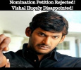 Nomination Petition Rejected! Vishal Hugely Disappointed! Tamil News