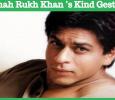 Shah Rukh Khan's Kind Gesture! Tamil News